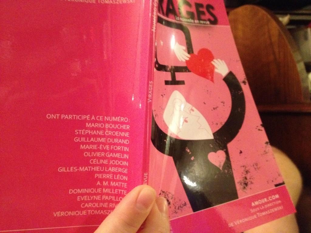 """63e édition de la revue Virages, dans laquelle se trouve ma nouvelle """"Nelles"""""""