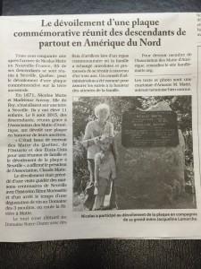 Un article de journal fait l'erreur de nommer mon fils Nicolas plutôt que Rohan.